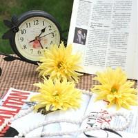 Slender African Daisy Gerbera Sunflower 10-12cm Diameter Flower Heads Artificial Wedding Decoration Free Shipping(100pcs/lot)