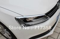 Free Shipping 2012-2013 Volkswagen VW Jetta/Sagitar ABS Chrome Front Headlight Lamp Cover hjk2