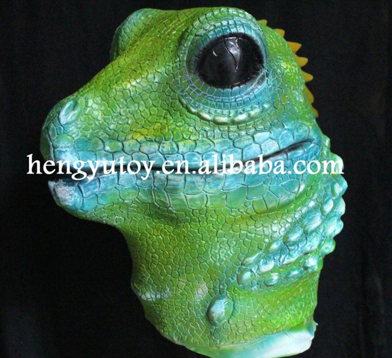 Lizard Costume Costume Latex Green Lizard