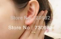 pure 14k  glod  women SEarrings small cross earrings  fashion jewelry free shipping