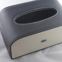 Free shipping black leather car tissue box !! luxury SUBARU car tissue holder,hot sale auto paper holder