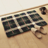 Quality thickening polyacrylonitrile fiber carpet mats bathroom waste-absorbing slip-resistant plaid coffee table carpet