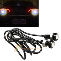 R1B1 2pcs 3W Car Motor White LED Eagle Eye Daytime Running Tail Backup Light