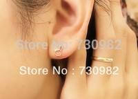 pure 14k  glod  women R Earrings small rabbit earrings  fashion jewelry free shipping