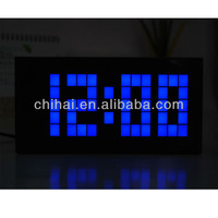 Free Shipping!  LED  Digital  +Thermometer+Calendar+  alarm  large atomic clock
