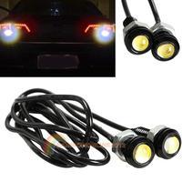 Super!!R1B1 2pcs 6W Car Motor LED Eagle Eye DRL Daytime Running Tail Backup Light