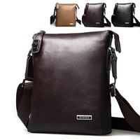 Fine man bag british style business casual messenger bag shoulder bag genuine leather messenger bag