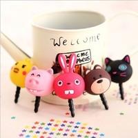 (5 pieces/lot) Cartoon Animal Dustproof Plug For iPhone4/4S/5 Samsung, 3.5mm Earphone Plug