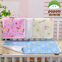 100% cotton cartoon baby water absorbent waterproof changing mat baby diapers puerperal pad