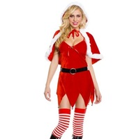 Red cape christmas clothes game service christmas uniforms fashion christmas installation