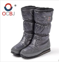 Baijia brief fashion knee-high satin fabric snow boots thermal windproof female skiing shoes