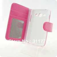 Free Shipping Book Style Wallet Stand Leather Case for Samsung Galaxy Ace 3 S7272 , Mix Color