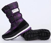 Plaid slip-resistant waterproof windproof female knee-high snow boots warm shoes platform