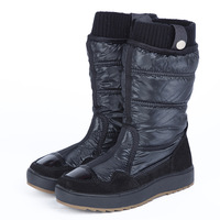 New arrival best genuine leather bag thermal women's down snow boots shoes boots slip-resistant waterproof
