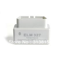 Free shipping 2013 Newly Design SUPER MINI ELM327 Bluetooth OBD2 V1.5 White Smart Car Diagnostic Interface Wireless Scan Tool