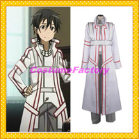 Free Shipping Custom Made Sword Art Online Cosplay Blood Kazuto Fullset Costume,1.5kg/pc