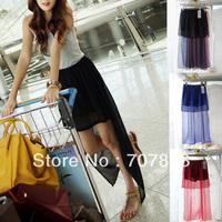 Korean Fashion Style Ladies' Chiffon Irreglar Swallo Tail Skirt 20311