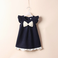2013 autumn girls clothing kid's gentlewomen  dress  woolen dress girls' dresses