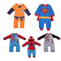 Children's clothing autumn 2013 baby clothes baby romper super man style newborn bodysuit long-sleeve romper
