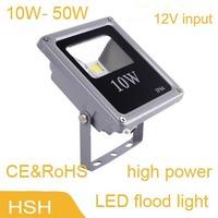 whole sale new 50pcs/lot 10W 20w 30w 50w led flood light input12V Spot light Epistar 35mil white warm white led solar light