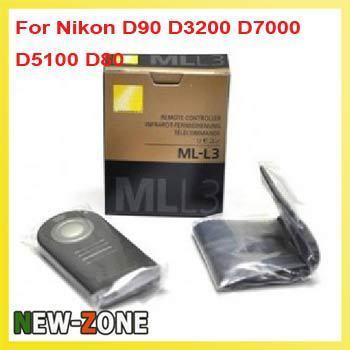 Free Shipping 1PCS  ML-L3 MLL3 Remote Control For Nikon D7000 D5100 D5000 D3000 D90 D70 D60 D40 come with battery