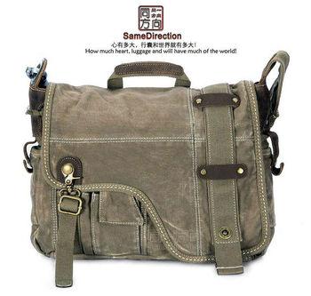 Free Shipping vintage leather messenger bags for men high fashion handbag designer excellent handbag canvas messenger bag BL5278