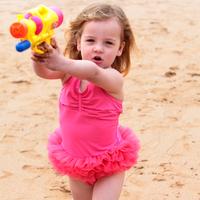 Polly child swimwear female child one-piece swimsuit children princess dress baby swimwear