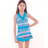 Child swimwear female child split skirt swimwear child swimwear
