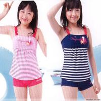 2013 child swimwear female big boy child swimwear split young girl swimwear