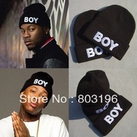 5Pcs/Lot Autumn Winter Fashion BOY Black Knitted Woolen Hats Men Casual Hats Free Shipping
