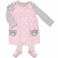 Free Shipping Baby Girl Soft Wear Clothing Carters Close-Fitting Wear  3 Pieces 1 dress+1 Woolen socks