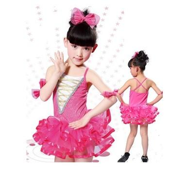 2013 Girls dance costume female child ballet princess tulle dress modern dance performance wear