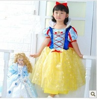 Party Cosplay Costume Supplier Cute Little Girl Snow White Skirt Princess Dress Halloween Cosplay Costume