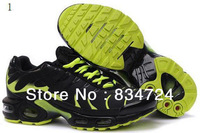 2013 wholesale Men's Running Shoes TN Brand shoes Genuine Leather Athletic Shoes Size 7-12
