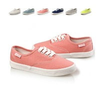 Free shipping 6 Colors Low Top Fashion Leisure shoes for Women Lace Up Breathable Women's Canvas Shoe