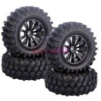 4PCS RC 1/10 Off-Road Car Beach Rock Crawler Tires Tyre Wheel Rim 6mm Offset 601-7006
