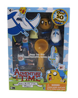 Free Shipping Adventure Time Deluxe Bucket of Ooo Playset Over 50 Pieces Finn and Jake Adventure Time Children Toys