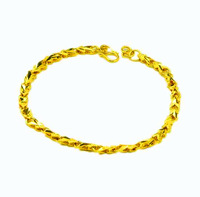 New Arrival Fashion 24K GP Gold Plated Mens Jewelry Bracelet Yellow Gold Golden Bracelet Bangle Free Shipping YHDH035