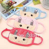 Korean Lovely Rabbit Masks 100% Cotton Winter Warm Mask Fashion Downy  Dust Mask 10pcs/lot Free Shipping