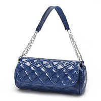 2013 bright japanned leather chain bag mini bag messenger bag handbag women's