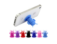100pcs Silicone Sucker Stand/Suction Cups Android Robot Mobile Holder Stand for iPhone 4/4S/Touch/Ipad/MP4