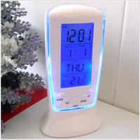 Led electronic clock luminous clock alarm clock snooze blu ray calendar belt thermometer 510 dawdler alarm clock timer