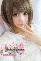 In stock Wig girls handsome fluffy bobo wig short hair and bangs qi girls  free shipping
