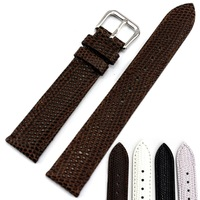 Calf skin Emboss strap personalized leather watchband black male female form strap 18 16mm