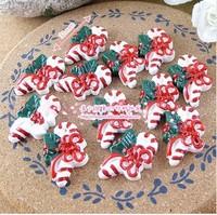FreeShipping 50 PCS/Lots DIY Very Hot and Kawaii Clear Resin Flatback Christmas gift  cabochons