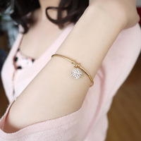 Lucky ball crown opening plated bracelet jewelry accessories girls gifts free shipping  g1206