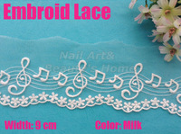 5 meters/ lot  9cm  width Milk embroid  lace  for fabric warp knitting DIY Garment Accessories free shipping#1805