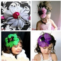 free shipping  Baby infant beauty Headband for feather Headbands kids hair accessory have more than 36(21-36#)  kinds Wholesale