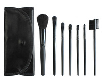 New 7 Pcs Professional Makeup Brushes Set Black Handle Cosmetic Brush Kits Wholesale