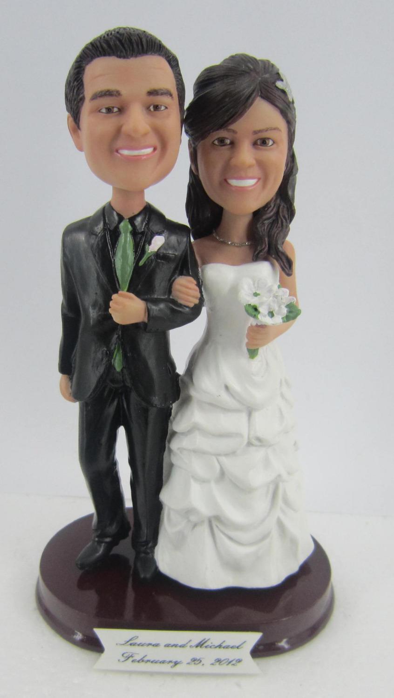 Personalized bobblehead doll wedding gift wedding decoration fixed polyresin body + polyresin head(China (Mainland))